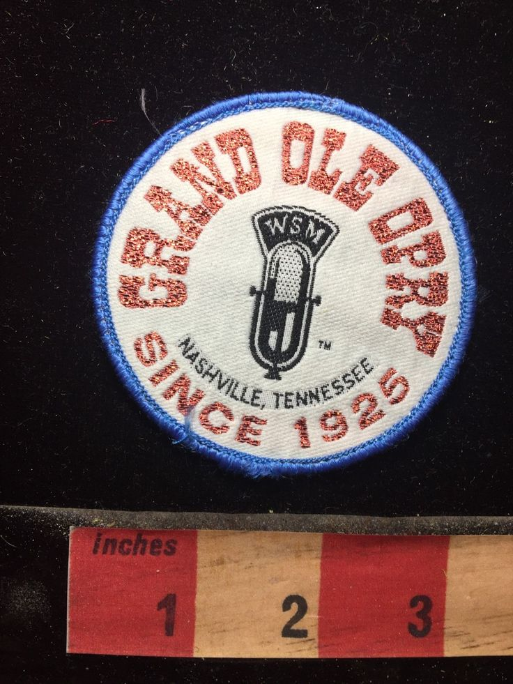 Vintage GRAND OLE OPRY Tennessee Patch ~ WSM Radio Mic Country Music C74I