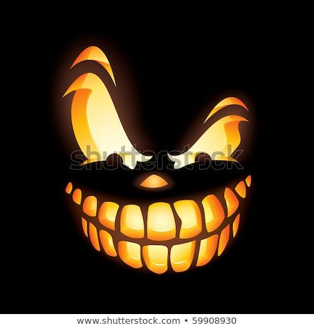 Finden Sie Scary Jack O Lantern in the dark Stock-…