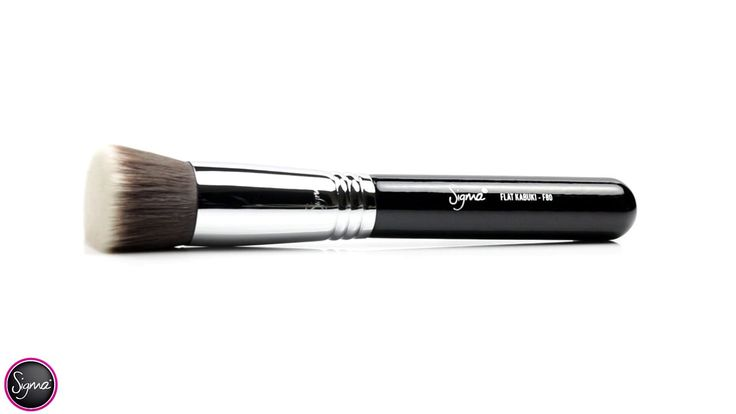 F80 - FLAT KABUKI: This brush is no joke, awesome coverage, no streaks and the bristles are nice and soft on your skin.