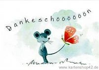 Dankeschööööön  -Postkarte Grußkarte von Helme Heine