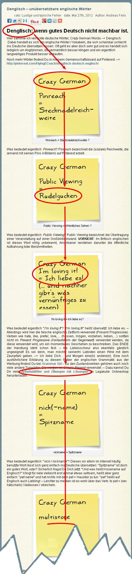 #englische #Vokabeln, die sich nicht ins #Deutsche #übersetzen lassen oder einfach nur nervige #Anglizismen? – #Denglisch gesammelt von: www.FlyingEnglishCoach.de #Englisch #Nachhilfe #Pforzheim / freier Mitautor für #Arbeitsblätter und #Unterrichtsmaterialen & mehr!