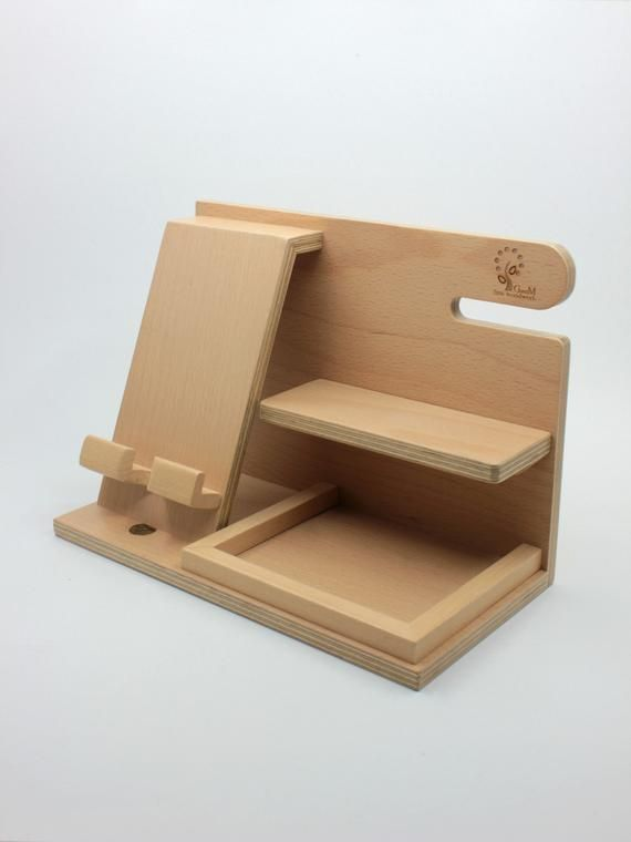 Docking station, wooden docking station, birthday gift for men, unique holiday gift, anniversary gift, gifts for men husband fathers day
