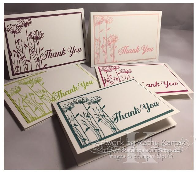 """Faithful INKspirations: Creation Station: In Color Collection Creations--these cards use Stampin' Up's """"Delightful Daisy"""" stamp set and all the new In Colors."""