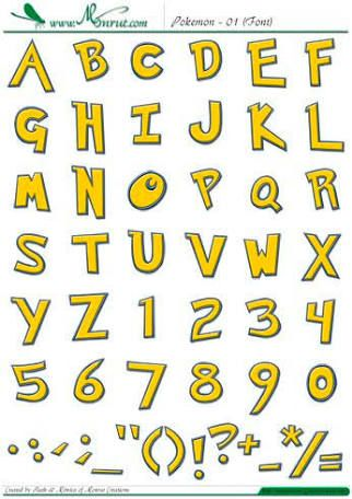 Image result for letras de pokemon