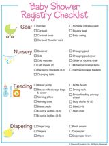 Baby Shower Registry Checklist - free printable #pregnancy
