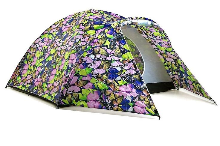 Not only is this 4-Person Tent ($198)  beautiful to look at, it's also high tech. It has a lithium solar storage bank and mobile phone/USB adapters.