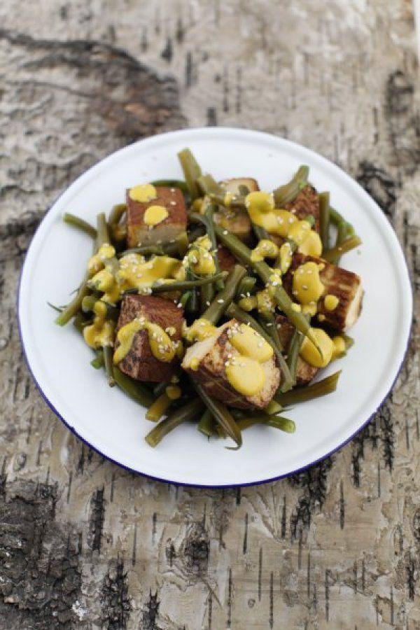 Summer : : INSALATA DI TOFU E FAGIOLINI ALLA SENAPE » PICI E CASTAGNE http://www.piciecastagne.it/2013/08/30/insalata-di-tofu-e-fagiolini-alla-senape/