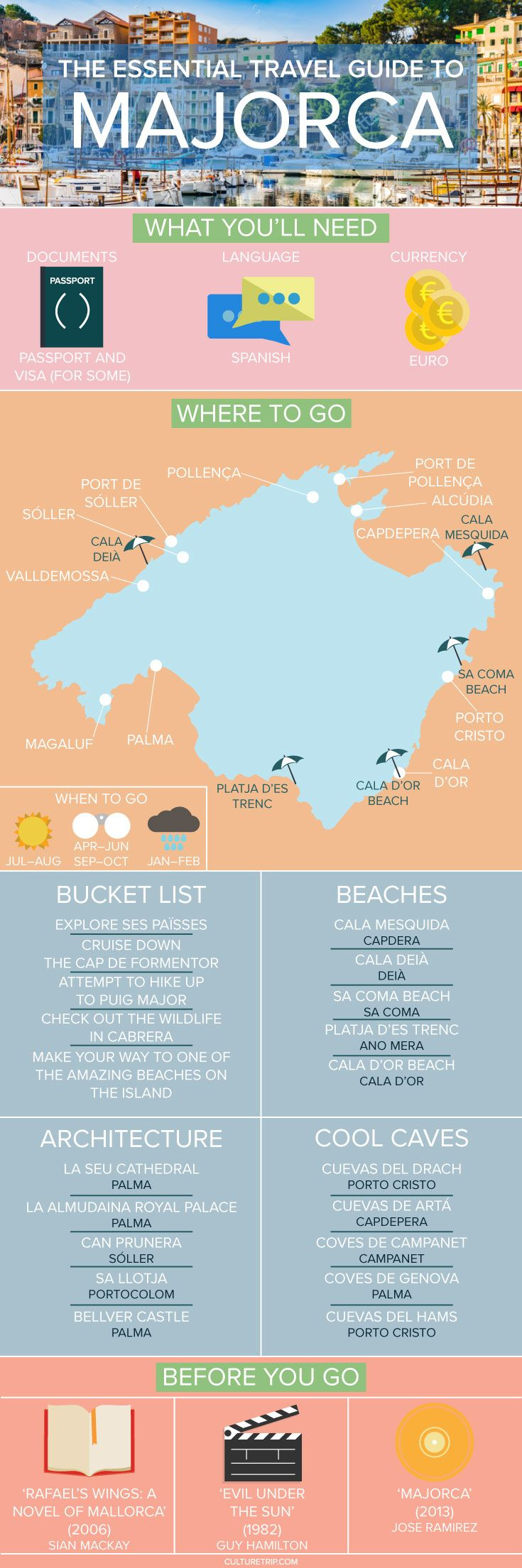 The Essential Travel Guide to Majorca Infographic