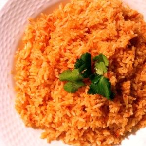 Perfect Easy Homemade Mexican Rice. The whole family loved it. I sautéed the onions before puréeing them. The rice was a little spicy even though I used mild Rotel. One of my favorite pins!