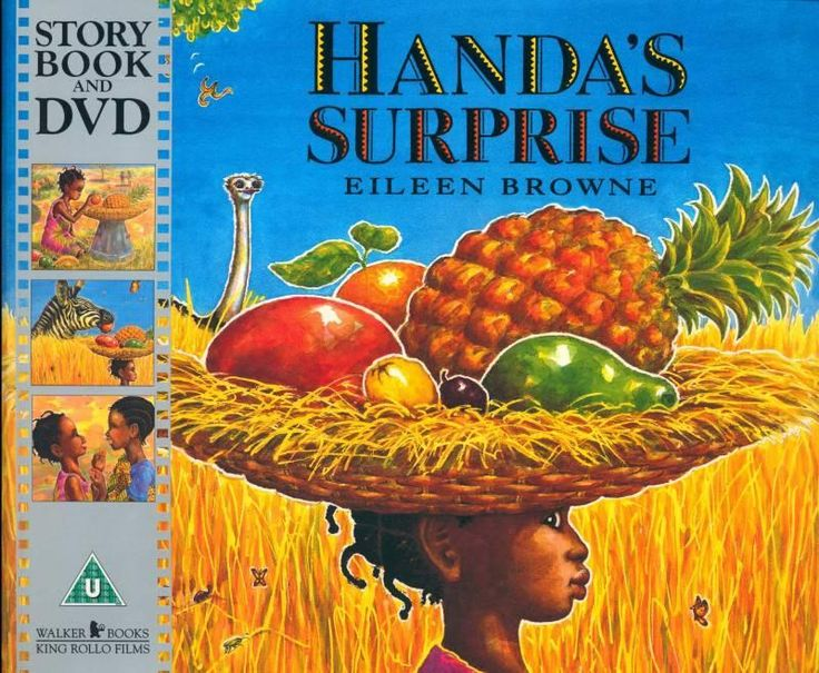 Handa puts seven different delicious fruits in a basket to take to her frient Akeyo as a surprise.