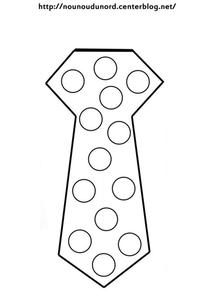 Cravate coloriage gommettes en couleur 1 blog - Cravate dessin ...