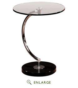 C Shape End Table - Modern Cosmopolitan Style Lumi-TB-C