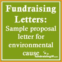 fundraising nonprofit sample proposal letter for environmental cause
