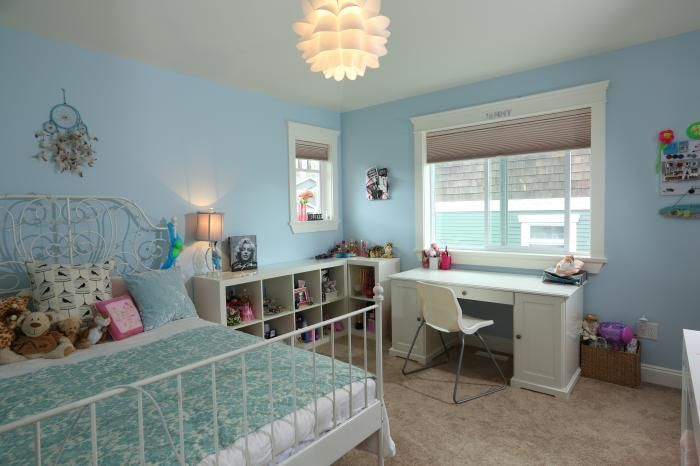 Cute and simple kid's room in this new Burnaby custom home.