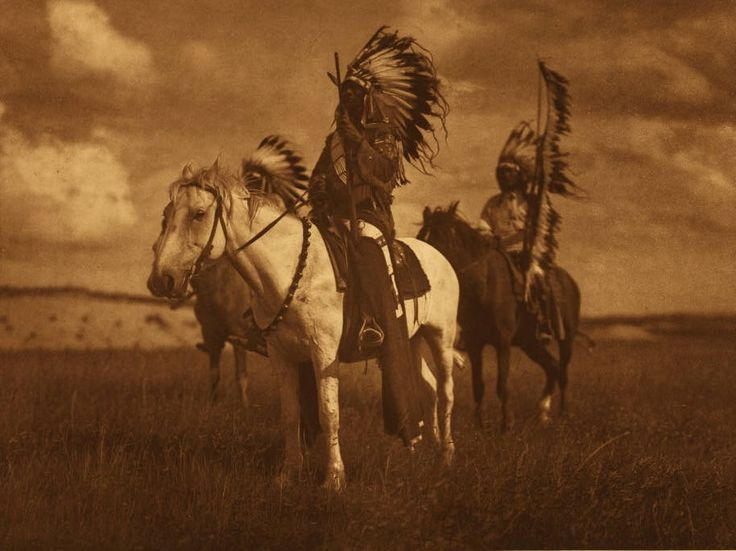 Sioux Chiefs, 1908, Edward Curtis