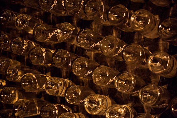 Under the streets in kilometers of cellars, the bottles of champagne are maturing. Drink responsibly. #champagne #cellars #Epernay #France