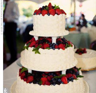 Fruit Infused Wedding Cake
