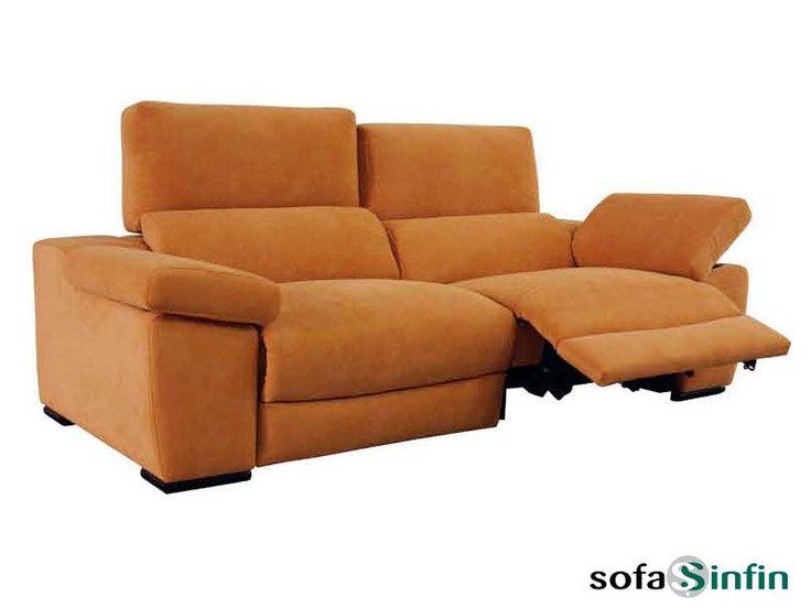 Sofá relax de 3 + 2 plazas y chaise-longue modelo Hamilton fabricado por Losbu en Sofassinfin.es