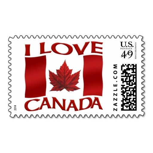 Canada Postage Stamps I Love Canada Flag Stamps.......ahhhh, aren't they sweet?