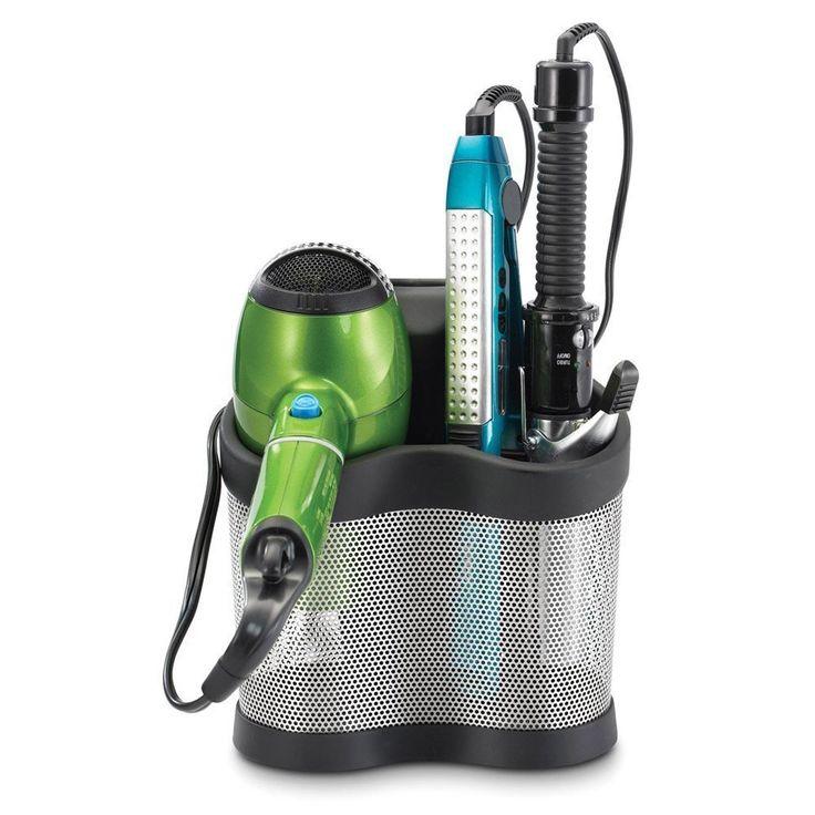 Hair Dryer Curling Iron Organizer Part - 37: NEW Curling Iron Blow Dryer Holder Hair Care Bathroom Wall Mount Organizer  Storage ** This