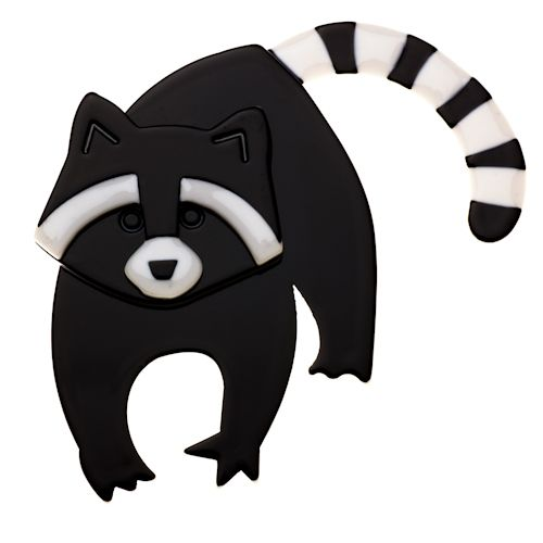 **VERY RARE, LAST ONE!!** Limited edition Erstwilder Randy Racoon brooch by Louisa Camille. $34.95