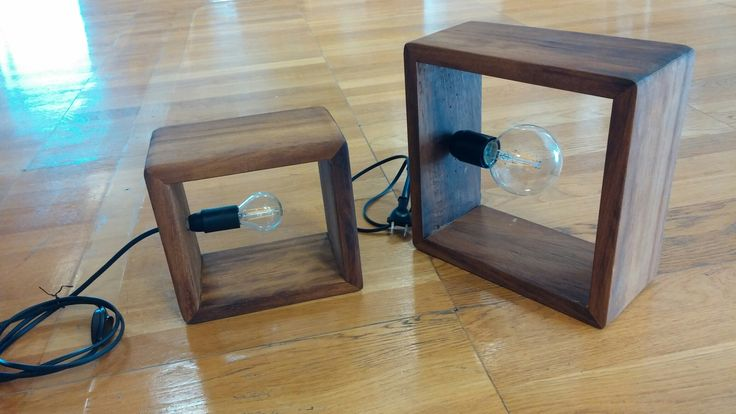 Led wooden lamps
