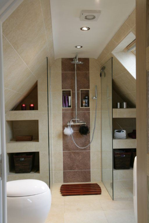 Best 25 loft bathroom ideas on pinterest loft ensuite for Small ensuite wet room ideas
