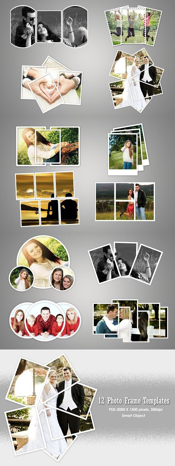 Photo frame templates v1. Banner #photocollage #photoframe