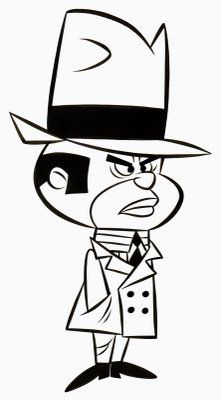 Wacky Races - The Ant Hill Mob - Clyde  - Leader and most spoken member of the group. Wears a tall black/red fedora and grey/red suit. (voiced by Paul Winchell)