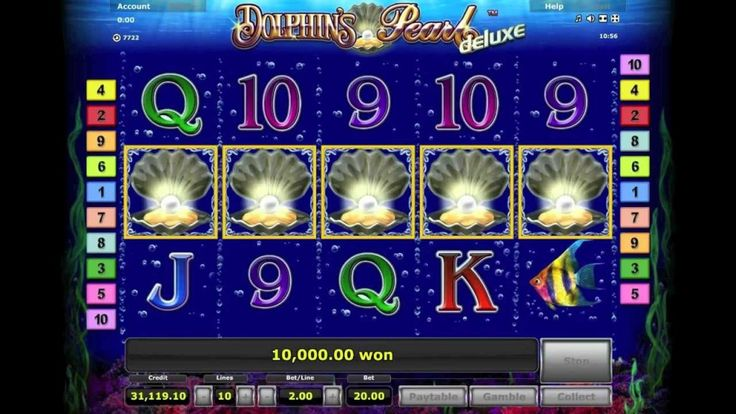 Take a deep breath and dive into popular slot Dolphin's Pearl™ Deluxe where undiscovered riches are waiting! Get fishing for Seahorses, marine fish, and other sea creatures and see if you can locate the lustrous pearl and its big payout.