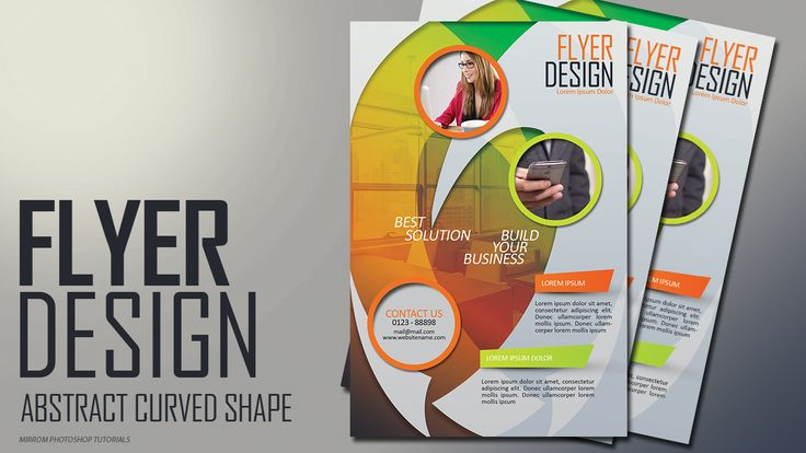 In today's Photoshop tutorial I am going to show you how to make a flyer design with abstract curved shapes concept.