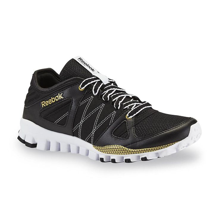Reebok Women's RealFlex Black/Gold Athletic Shoe - Clothing, Shoes &  Jewelry - Shoes