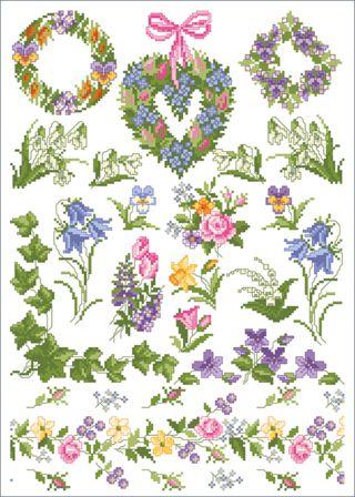 Stickvorlage Lindner's Kreuzstiche - Petite Fleur