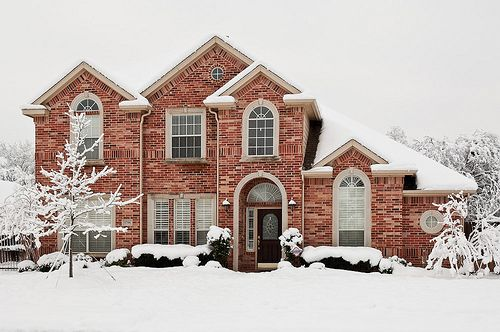 Beautiful! Brick is so lovely, especially with snow!