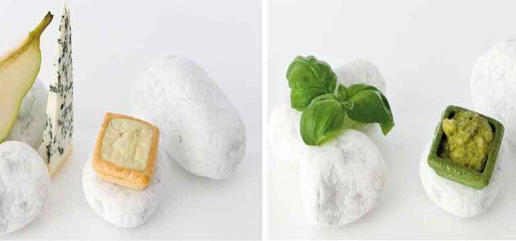 Tartaletas rellenas de queso y pera, o de pesto.