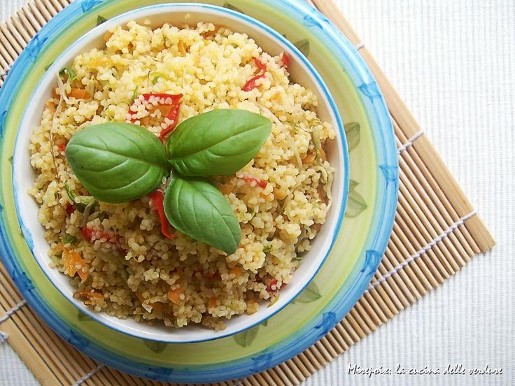 Cous cous con verdure, ricetta piatto estivo.