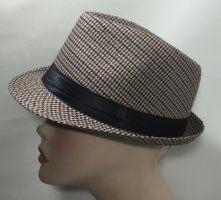 Cotton Trilby - Black, Brown & Cream Checker 57