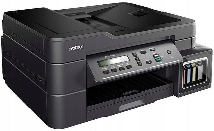 Daudzfunkciju Ierice Printeris Un Skeneris Brother Dcp T710w Ink Colored A4 Flatbed Scanner May In May Tinh Bảng Mau Da