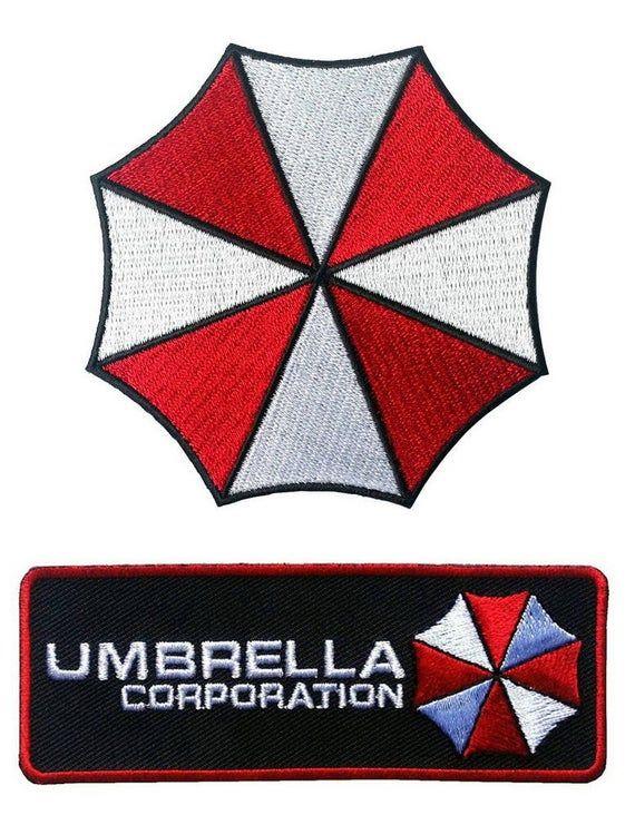 2 Piece Umbrella Corporation Resident Evil Biohazard Hook Etsy Resident Evil Costume Umbrella Corporation Umbrella