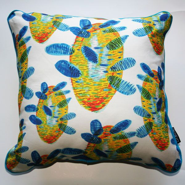 Banksia Contemporary Turquoise Cushion