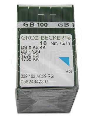 Groz-Beckert PK x 100 Needles DBxK5 RG 11-75 for Embroidery Machines