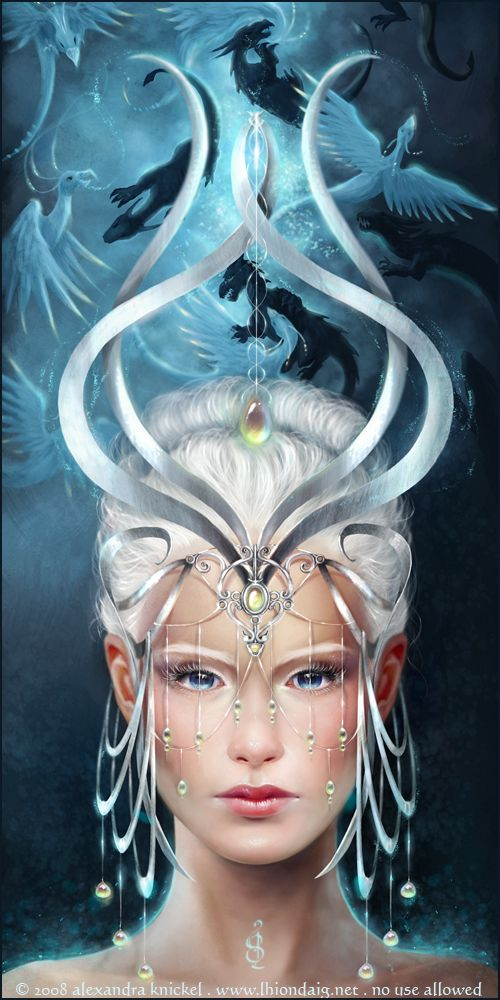 ✯ Twillight Priestess .. By =Aruyinn✯ This is beautiful! Reminds me of an Air Elemental!
