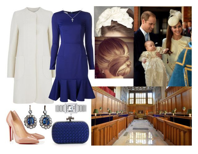 """""""Attenfing the Christening of Prince George"""" by annaschoko007 ❤ liked on Polyvore featuring Rachel Trevor-Morgan, Cartier, Goat, Ports 1961, Bottega Veneta and Christian Louboutin"""
