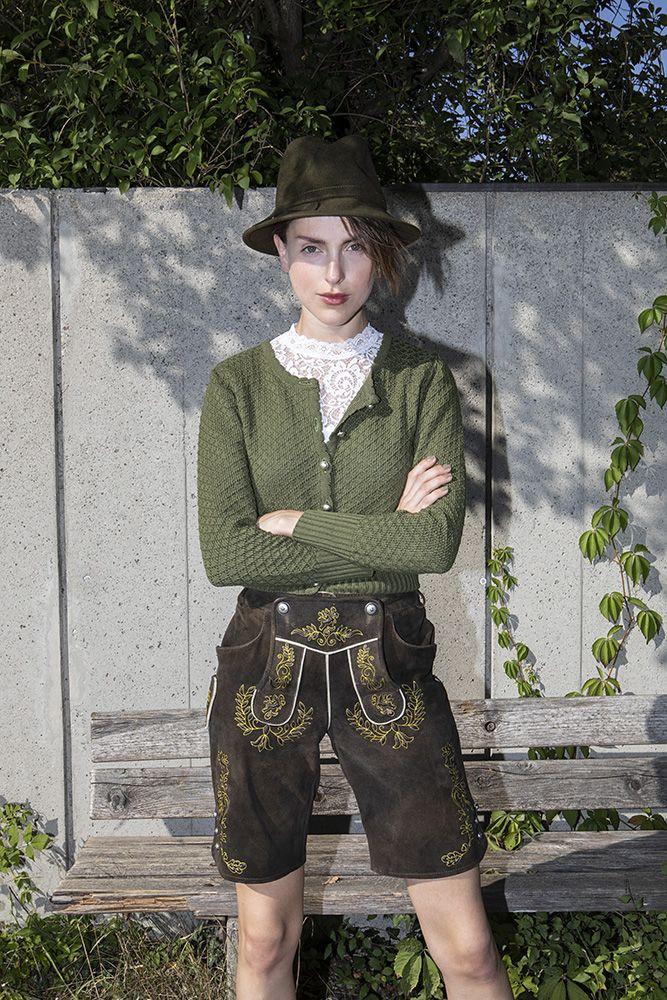 Lederhose Annette Weber X Angermaier | Lederhose damen, Mode