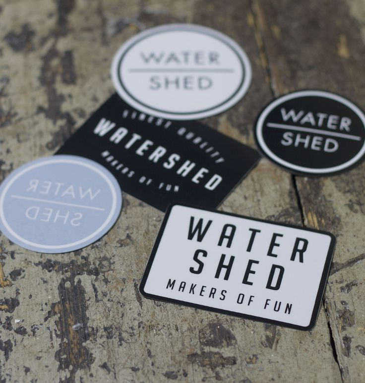 Watershed mixed logo sticker pack