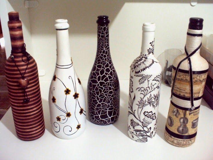 ECOMANIA BLOG: Decorando tus Botellas de Cristal                                                                                                                                                                                 Más