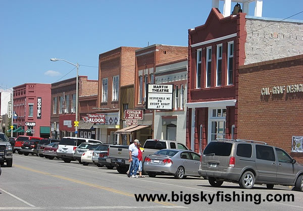 Downtown Big Timber, Montana Where my grandfather was a card shark in the hotel! and owned a ranch in Contact
