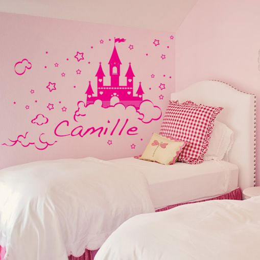 stickers ch teau de princesse d coration chambre fille. Black Bedroom Furniture Sets. Home Design Ideas