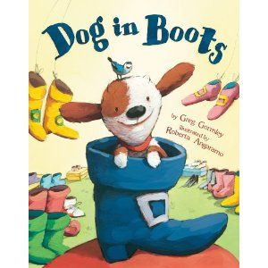 "Use with the Daily 5 ""I Pick"" shoe lesson.  Dog tries on allkinds of shoes but in the end finds the one that is ""just right"" for him."