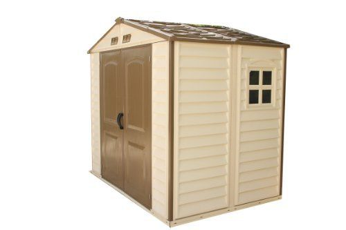 Duramax 30114 Store All Vinyl Shed with Foundation, 8 by 6-Inch